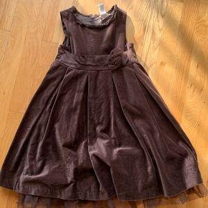 🏇🏼 2/20 Janie & Jack Brown Velvet Dress 5T